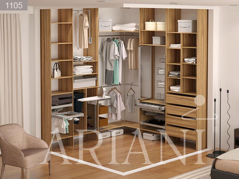Гардеробная угловая дисопра в разных стилях от мебельной фаб.